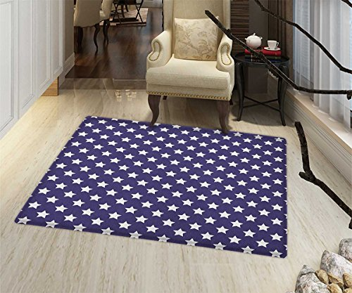Navy Area Silky Smooth Rugs Bunch of Star Figures USA Americ