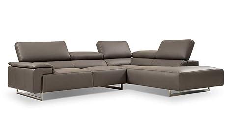 Amazon.com: I794 Premium - Sofá de piel para la mano derecha ...