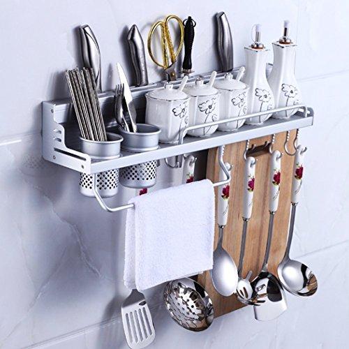 k chen regal organisatoren regale mit zaun saebye multifunktionale aluminium k chen werkzeug. Black Bedroom Furniture Sets. Home Design Ideas