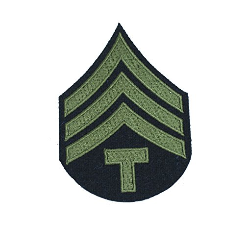 Reproduction World War 2 US Army Olive Rank Patches (Technician/4th Grade)