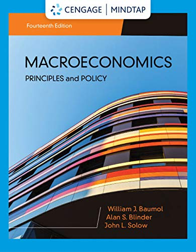 MindTap for Baumol/Blinder/Solow's Macroeconomics: Principles & Policy, 14th Edition [Online Code] by Cengage Learning