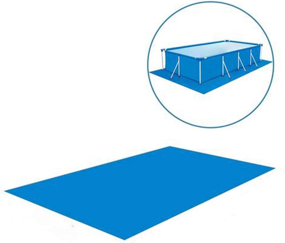 Swimming Pool Cushion Swimming Pool Mat Pool Ground Cloth Rectangle Swimming Pool Mat Foldable Waterproof Ground Cloth Pool Floor Protector for Inflatable Swimming Pools Paddling Pools