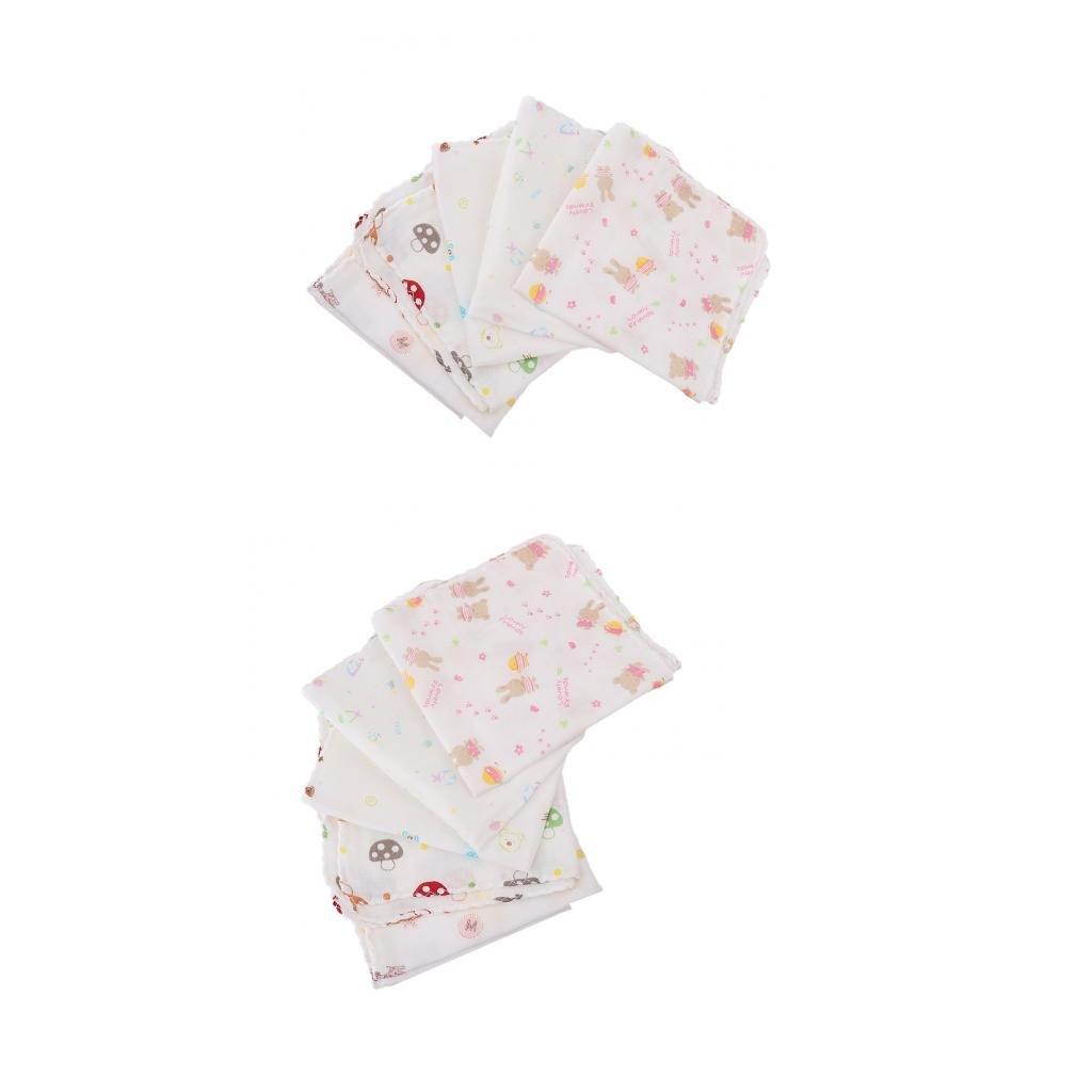 Stoffwindeln Swaddle Wrap Spuckt/ücher Sharplace 10er Set Mullt/ücher f/ür Baby Jungen M/ädchen 30 x 30cm Mullwindeln