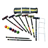 Compra Harvil 6-Player Croquet Set with Poly-Resin Balls, 30-inch Rubber Wood Mallets, Stake Posts, Metal Wickets and Carrying Case. en Usame