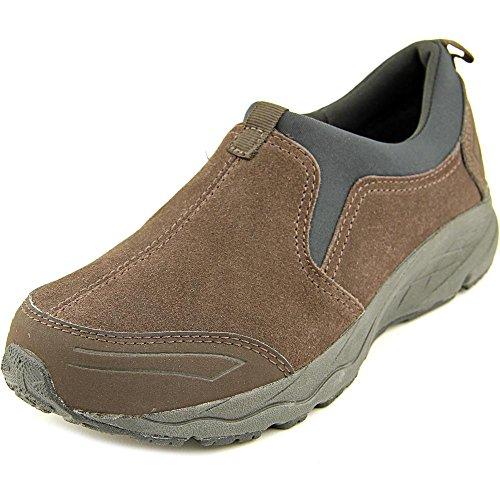 Lätt Anda Kvinna Takina Läder Låg Topp Slip På Mode Sneakers Mörkbrun