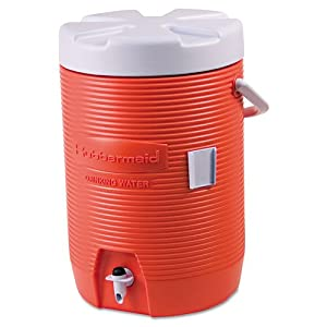 Rubbermaid Victory Jug Water Cooler, Orange, 3-gallon (FG16830111)