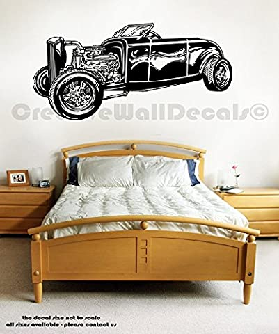 Vinyl Wall Decal Sticker Old School Car Retro Auto Collection Man Gift r1768 - Old School Auto