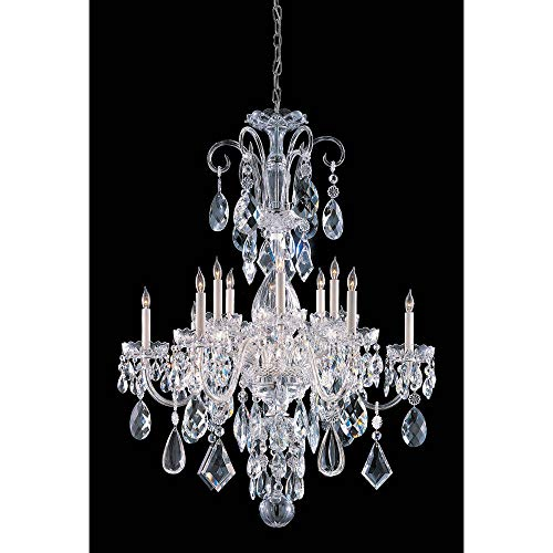 Crystorama 1045-CH-CL-MWP Crystal 12 Light Chandelier from Traditional Crystal collection in Chrome, Pol. Nckl.finish, -