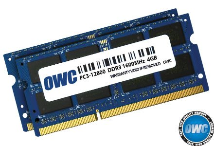 OWC 8GB (2x4GB) PC3-12800 DDR3L 1600MHz SO-DIMM 204 Pin CL11 Memory Upgrade Kit For iMac, Mac mini, and MacBook Pro