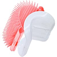 Cat Self Groomer with Catnip, Grooming Brush, Wall Corner Massage Comb, for Long & Short Fur Cats/Dogs, Helps Prevent Hairballs and Controls Shedding (Pink)