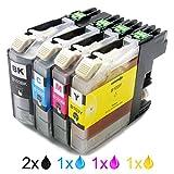 Sienoc 5x Ink Cartridges Compatible Replacement For Brother LC101 / LC103 (MFC-J4310DW J4410DW J4510DW J4610DW J4710DW J6520DW MFC-J285DW J470DW J475DW J650DW J870DW J875DW J6920DW DCP-J152W MFC-J245 J450DW J6720DW)
