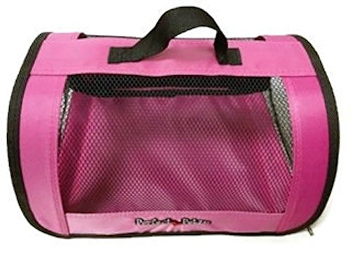 Perfect Petzzz Sturdy Pink Nylon and Mesh Zippered Tote For Carrying Your Plush Toy Pet by Perfect Petzzz