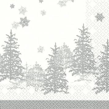 4 Motivservietten Servietten Napkins Weihnachten Weihnachtsmann am Baum 005
