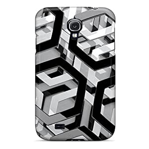 Abrahamcc Galaxy S4 Well-designed Hard Case Cover Chrome Hexagons 3d Protector