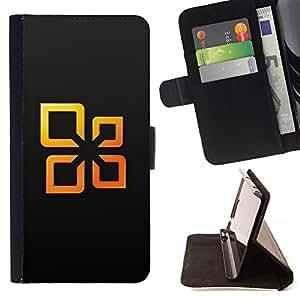 - Orange Squares Abstract - - Prima caja de la PU billetera de cuero con ranuras para tarjetas, efectivo desmontable correa para l Funny HouseFOR HTC DESIRE 816