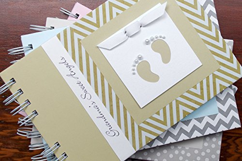 Handmade Personalized Baby Brag Book | Gold Chevron | 20 Designs