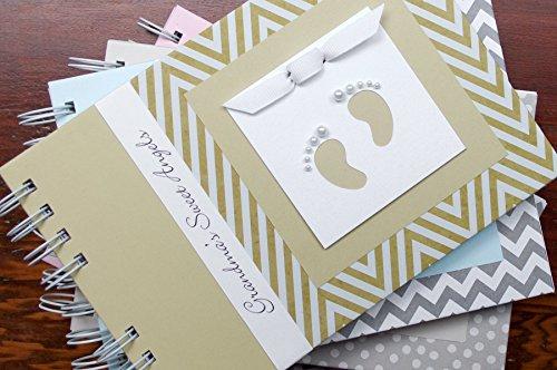 Handmade Personalized Baby Brag Book | Gold Chevron | 20 Designs