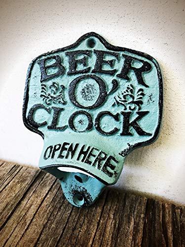 Rustic Patina Clock Bottle Opener
