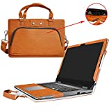 "Inspiron 13 2-in-1 i7353 i7352 Case,2 in 1 Accurately Designed Protective PU Leather Cover + Portable Carrying Bag For 13.3"" Dell Inspiron 13 2-in-1 7000 Series 7353 7352 Laptop,Brown"