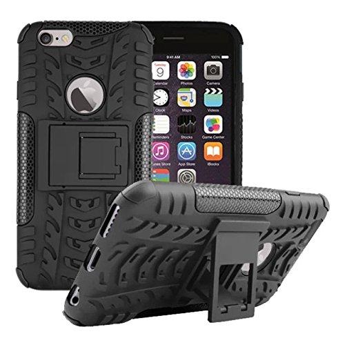 Für iPhone 6 (cm/6S 11.94-Geräte, Urvoix (TM) Heavy Duty Amour Dual doppelschichtig, stoßfeste, robuste Hülle Schutzhülle mit ausklappbarem Ständer, texturiert