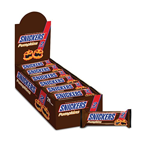 SNICKERS Halloween Chocolate Candy Pumpkins 2-To-Go (Pack of 24)