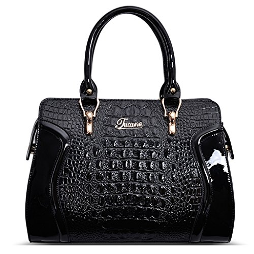 Bolso Messenger Bag Crocodile Pattern Bolso Mujer (Color : B) A
