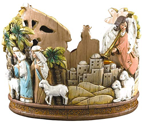 (FA Dumont Nativity Advent Candleholder - Includes 5 Candles)