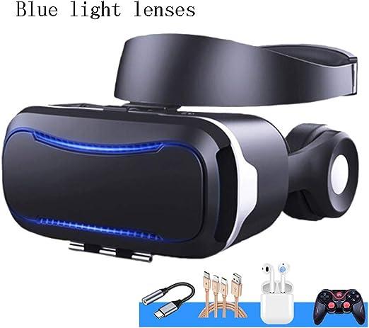 YANJINGYJ Realidad Virtual VR 3D Gafas,Luz Anti-Azul Protección ...