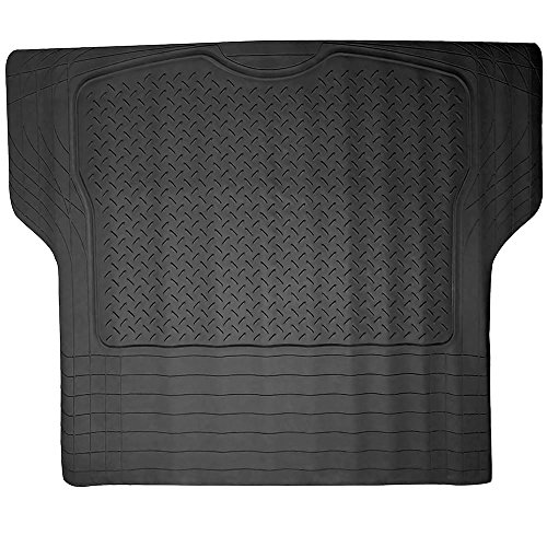 ECCPP Trunk Cargo Floor Mats for SUV Van Truck All Weather Rubber Black Auto Liners