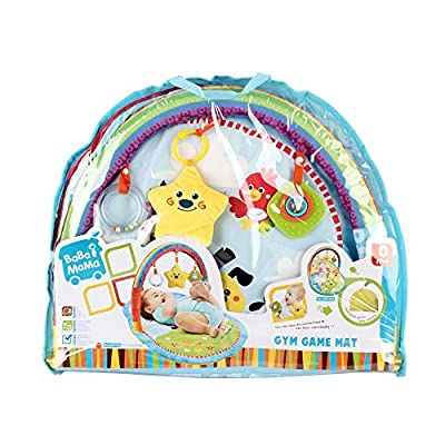 Ultra-Soft Tummy Time Mat With Colorful Attachable Toys