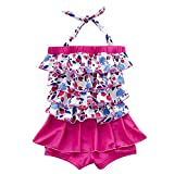 Jojobaby Toddler Girl's Cherry One-piece Swimsuit Bathing Suit (M(Age:3-4 Years))