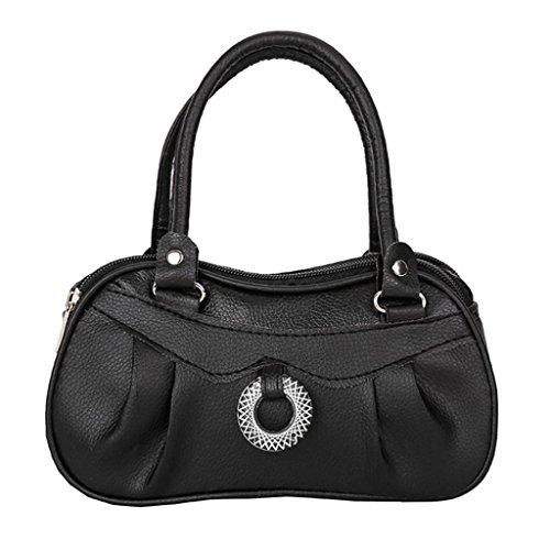 Handbag Black Shoulder Fashion Bag Pure Bag Luoluoluo Women's Purse Lady Color Handbag Party q0Fg76Y