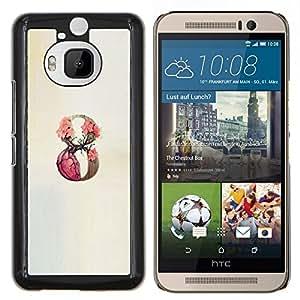 Stuss Case / Funda Carcasa protectora - 9 Infinity Rose Primavera Beige - HTC One M9Plus M9+ M9 Plus