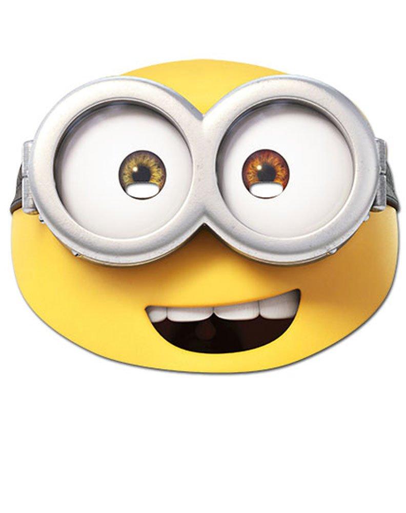 Minions - Bob Maske - hochwertiger Glanzkarton mit Augenlöchern