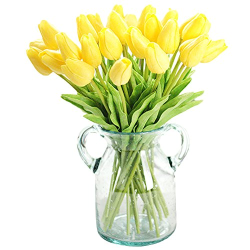 - XHSP 30 pcs Real-touch Artificial Tulip Flowers Home Wedding Party Decor