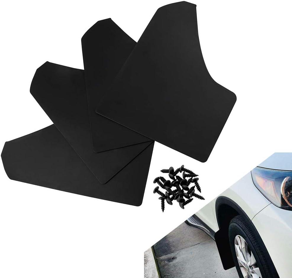 Shumo 4X Garde-Boue Universel de Voiture Pare-Chocs pour Voiture Camionnette Camisole Bavettes Garde-Boue Garde-Boue Garde-Boue