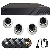 Complete Sibell 4 Channel 1080p HD - TVI DVR with 4 2mp Cameras, Surveillance System with Free Apps and Technical Support (Hard drive not included)