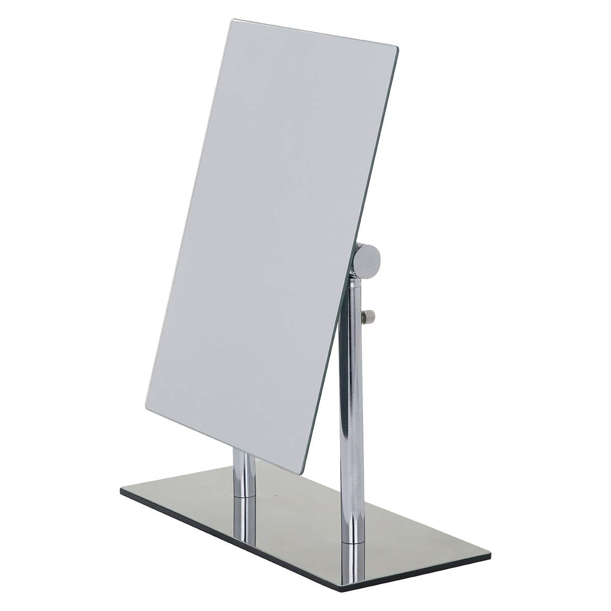 WENKO 3656420100 Standing cosmetic mirror Pinerolo - collapsible, Steel, 9.1 x 10.6 x 3.9 inch, Chrome