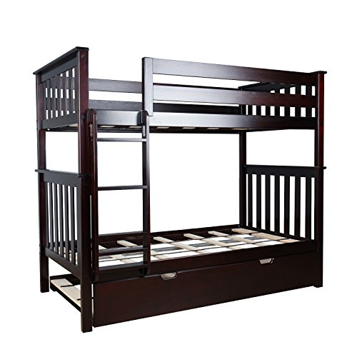 espresso bunk beds for kids - 3