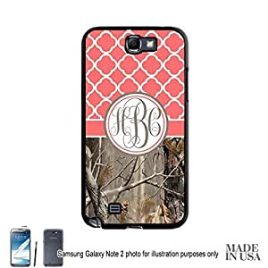 Country Girl Coral Camo Quatrefoil Monogram Case Samsung Galaxy Note 2