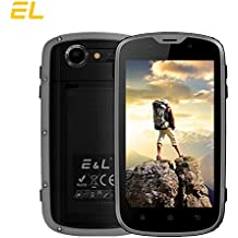 EL W5 Rugged Unlocked Smartphone with Wateproof IP68 Dustproof 4G LTE Android 6.0 Unlocked Outdoor Phones - 〖AT&T / T-Mobile 〗 (Gray)