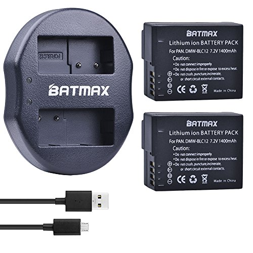 Batmax DMW-BLC12 Battery  and Compact USB Dual Charger for