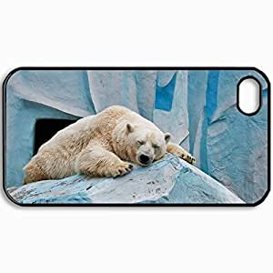 Fashion Unique Design Protective Cellphone Back Cover Case For iPhone 4 4S Case Bear Pose Zoo Black