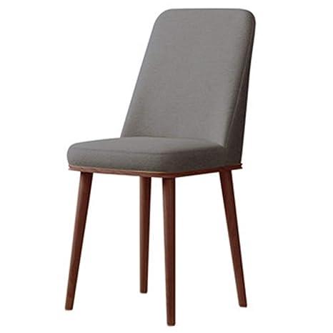 Amazon.com: Ch-AIR Sillón nórdico silla de comedor de madera ...