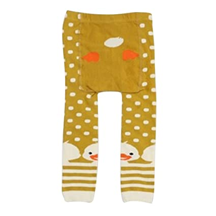 9a0d971ea6478 Juleya Baby Tights Cotton Animal Pantyhose Ninth Leggings Pants for Toddler  Boys Girls Yellow Duck M/2-4 Years: Amazon.co.uk: Baby