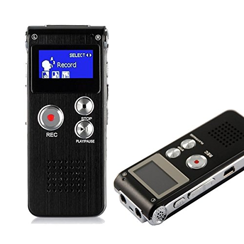HccToo 8GB Multifunctional Digital Voice Recorder Rechargeable Dictaphone...