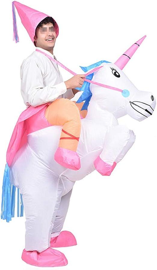 Amosfun Disfraz Inflable de Unicornio Fiesta de Halloween Cosplay ...
