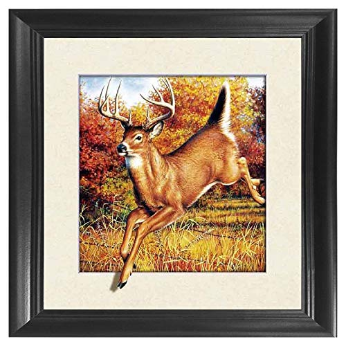 - Deer 5D / 3D Poster Wall Art Decor Framed Print | 18.5x18.5 | Lenticular Posters & Pictures | Memorabilia Gifts for Guys & Girls Bedroom | Natural Wildlife & Barn Fan Picture for Home Walls