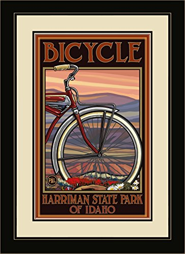 Northwest Art Mall PAL-3022 MFGDM OHB Harriman State Park Idaho Old Half Bike Framed Wall Art by Artist Paul A. Lanquist, 13 by - Harriman Mall
