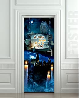 Wall Door STICKER Harry Potter Magic Hogwarts , Mural, Decole, Film 30x79
